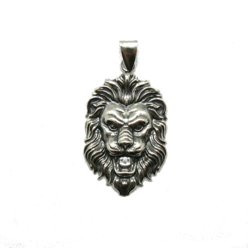 Handmade Véritable Pendentif en argent sterling Solide Hallmarked 925 lion PE001323