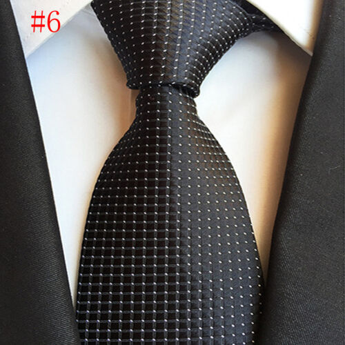Fashion Men/'s Tie Polka Dot Soild Color Classic Silk Necktie For Wedding Party