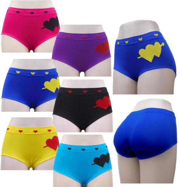 02deb837dfcb 6 Ladies Boxer Shorts Mix Colors Seamless Underwear Women Panties ...