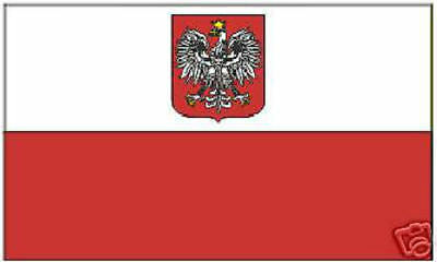 NEW 3x5 ft POLAND WITH COAT OF ARMS EAGLE FLAG better quality usa seller