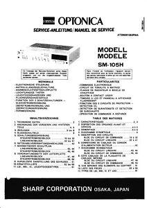Tv, Video & Audio Ehrlich Service Manual-anleitung Für Sharp Sm-105 H KöStlich Im Geschmack