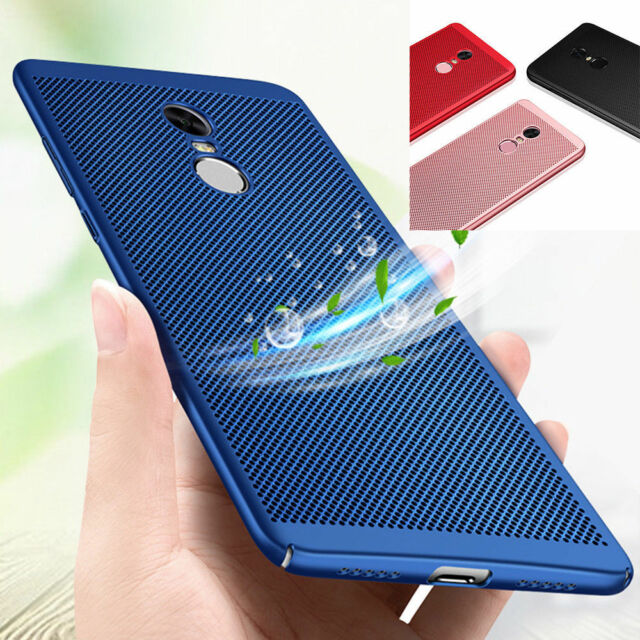 sale retailer 7ae29 02039 For Xiaomi Redmi Note 5 Pro 4X 6 Breathable Anti-Hot Protective Hard Case  Cover