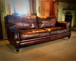 Image Is Loading Victorian Style Hand Dyed Cigar Brown Leather 3