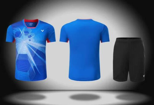 New Victor men/'s Tops table tennis clothing Badminton Set T-shirt+shorts