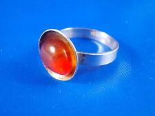 ERIK STYRBECH Design Ring 830 Silber Bernstein vintage Ø18mm Modernist 60er/70er