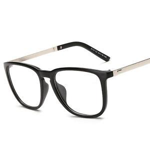 Vogue Clear Frame Glasses : Fashion Retro Clear Myopia Glasses Frame Eyeglasses Metal ...
