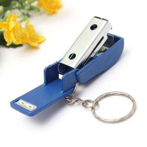 Tragbare Schlüsselbund Mini Nette Hefter Für Home Schule Papier Buchbinden WR YE