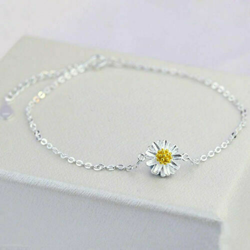 cheap wholesale 925 Sterling Silver Women Anklet Chain Daisy ...