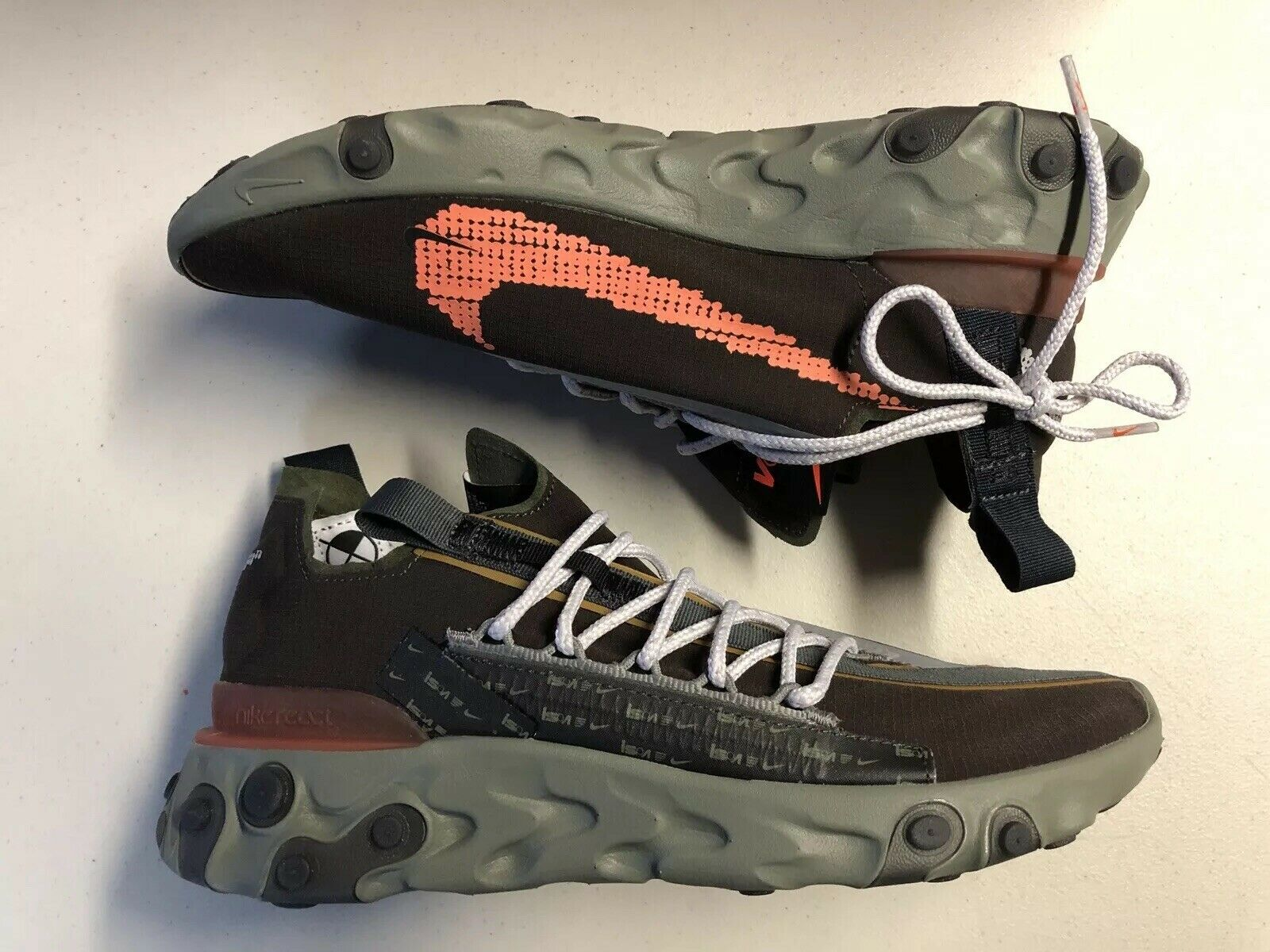 NIB Nike React WR ISPA Sz 8.5 Low Velvet Brown Terra orange AR8555-200 Runner