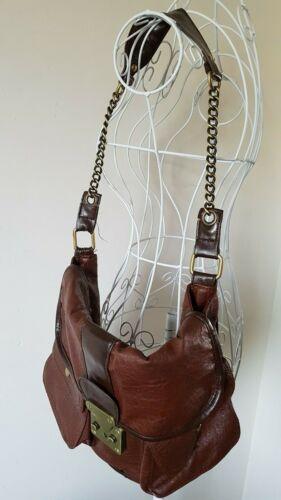 Grande Splendida due borsa chiusura frontali tasche marrone magnetica donna con da marrone patta q7xBrwZqa