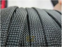 25mm x10m BLACK Expandable Braided DENSE PET Cable Sleeving High Density 3 Weave