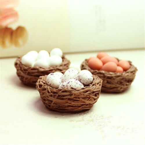 1Pc Resin Craft Mini Bird Nest Fairy Garden Miniature Decor Mini Landscape JD