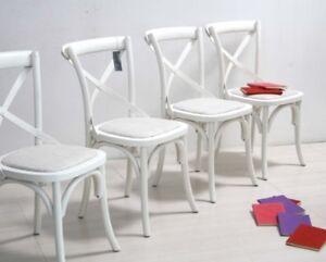 Sedie Shabby Chic Vendita : Set sedie country shabby chic colore bianco anticato con seduta