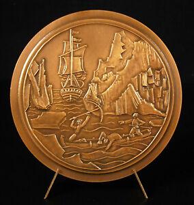 Medal-Captain-James-Cook-Explorer-Cartographer-Tessa-Evelegh-Water-in-Antarctic