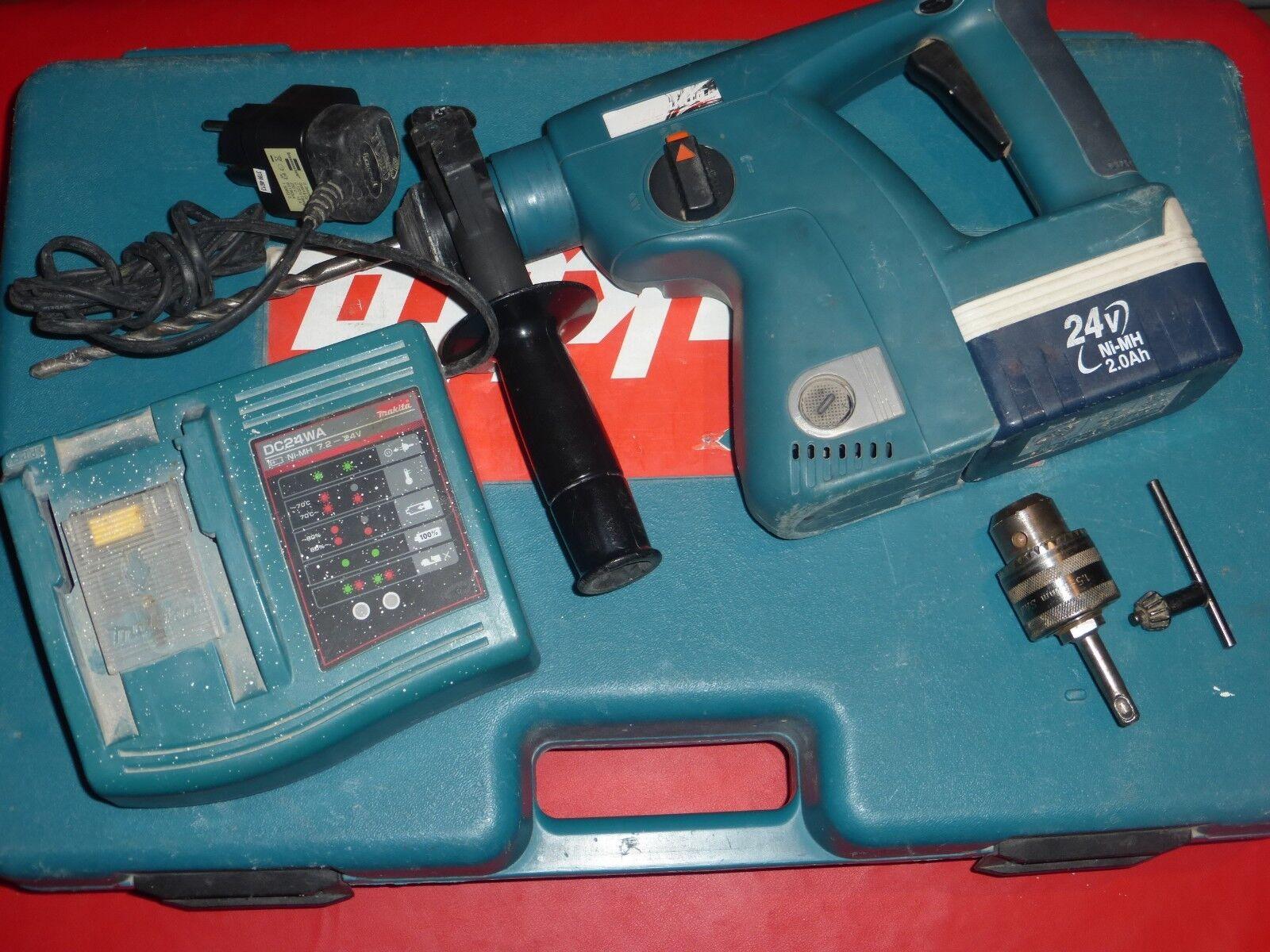 Makita BHR 200 Akku Bohrhammer  BHR200 Ladegerät DC24WA  Accu BH2420  Koffer