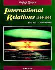 International Relations 1914-1995 by Tony Rea, John Wright (Paperback, 1997)