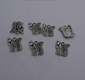 6pcs-Antique-silver-plated-nice-little-squirrel-charm-pendant-T0530