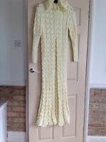 Hand Knitted Coat For Bride In 4 Ply Cream/ Ivory
