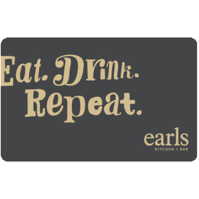 Earls Restaurants Gift Card $25, $50, or $100 - Email Delivery