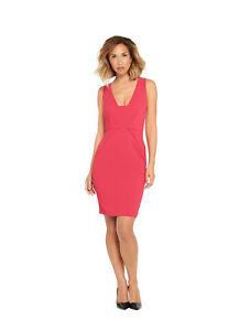01b1642c76cb Myleene Klass Deep V Front Pencil Dress In Pink Size 10 | eBay