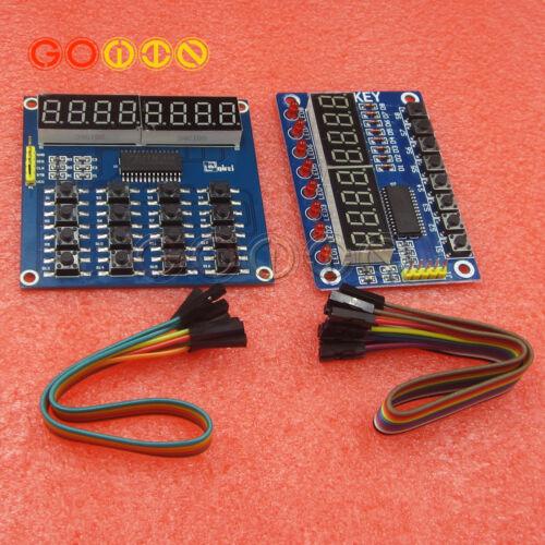 TM1638 LED Display 8Bit Digital Tube Module 8//16 Keys Keyboard for Arduino DIY