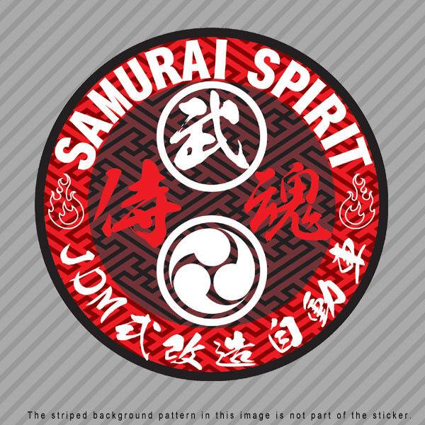 SAMURAI Spirit Soul Japanese Kanji Vinyl Decal Sticker JDM  HONDA SUBARU  P041