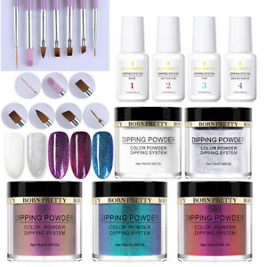 16Pcs-Set-BORN-PRETTY-Chameleon-Dipping-Powder-Liquid-Brush-Nail-Starter-Kits