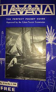 1946-HAVANA-WEEKLY-Travel-Guide-Cuba-for-US-Visitors-BACARDI-CASINOS-amp-CIGARS
