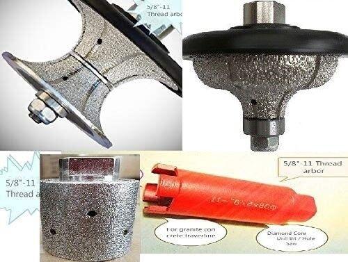 3 4  Ogee Full Bullnose 1 3 8  core bit zero tolerance drum concrete granite
