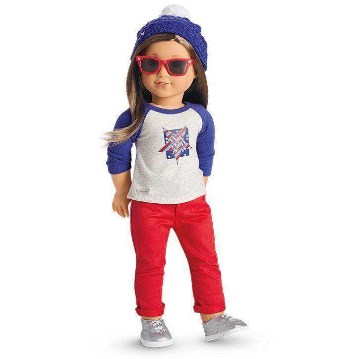 American Girl Girl Girl bambola Star Spangled Fan Gear Beanie Bobble Cappello Nuovo Con Scatola  Regalo Perfetto 241c63