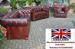 Chesterfield Essex Luxus Leder Garnitur Der Oberklasse 321 E 100