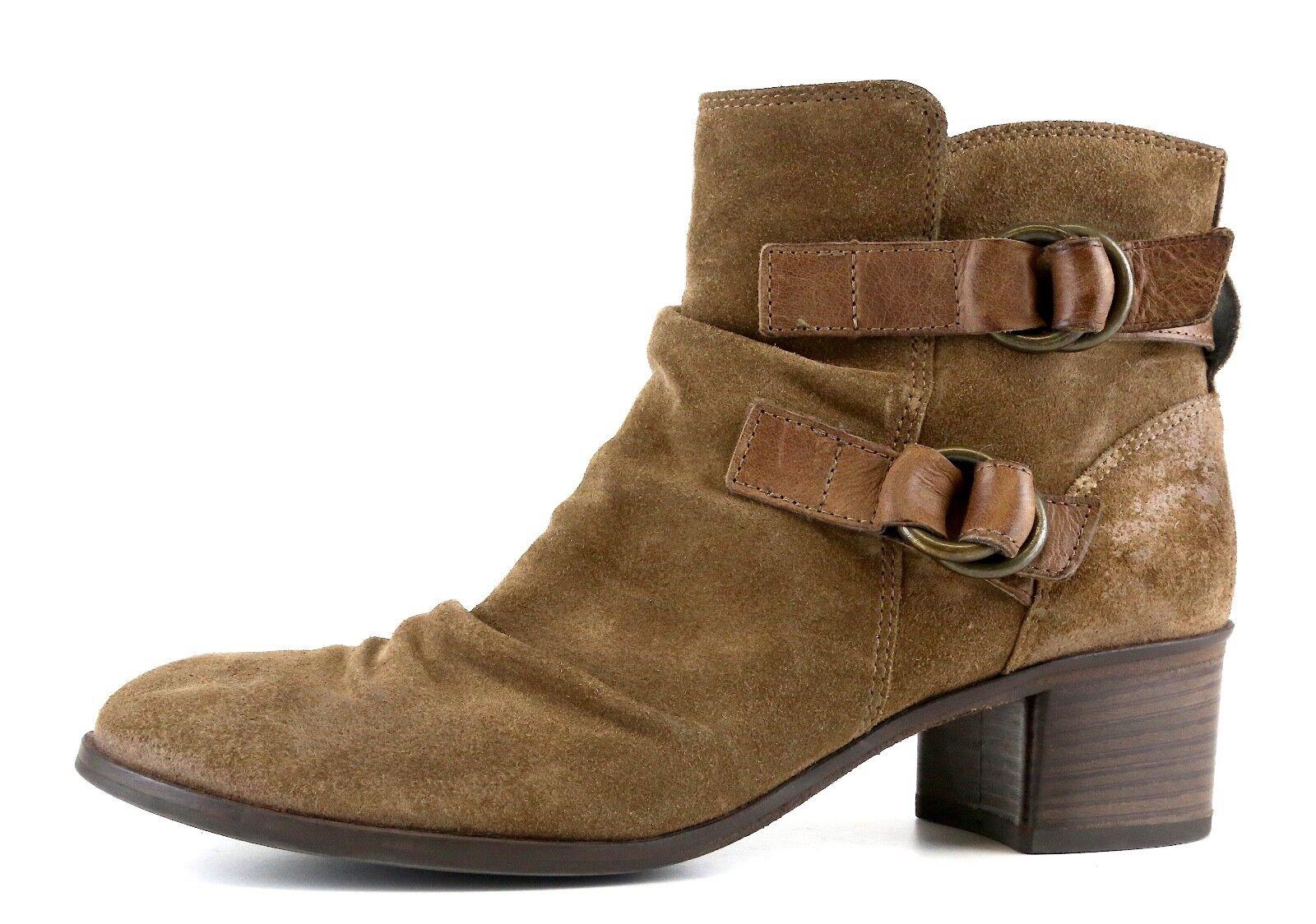 alla moda Paul verde Side Side Side Zip Suede Ankle stivali Marrone donna Sz 5   popolare