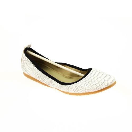 Foldy Damen Ballerinas Leder Weiß Größe 39