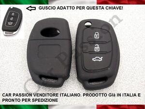 GUSCIO-CHIAVE-COVER-HYUNDAI-SILICONE-i10-i20-i30-ix20-SANTA-FE-nero-key-shell