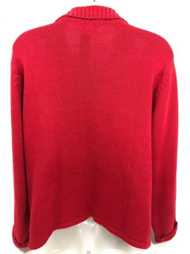 Red Sweater Christmas Collection International Womens Full zip Tiara Large wpI1qF5OF