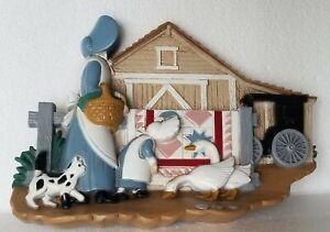 Vintage-Homco-Home-Interiors-Amish-Farm-Life-Wall-Plaque-Hanging-3340