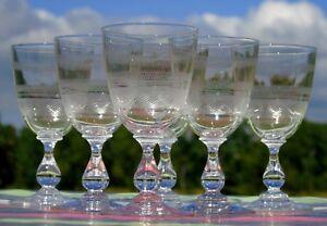 Baccarat-Service-de-6-verres-a-vin-blanc-en-cristal-grave-XIXe-s