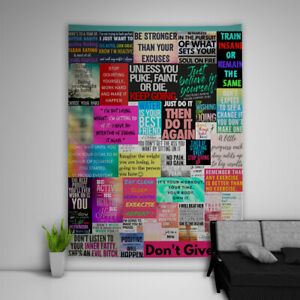 Inspirational-Quotes-Tapestry-Art-Wall-Hanging-Sofa-Table-Bed-Cover-Home-Decor