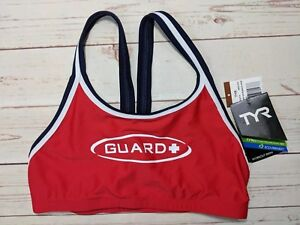 54dd1ed1be NWT TYR Guard + Women's Size Large L Lifeguard Red Lycra Swimsuit ...
