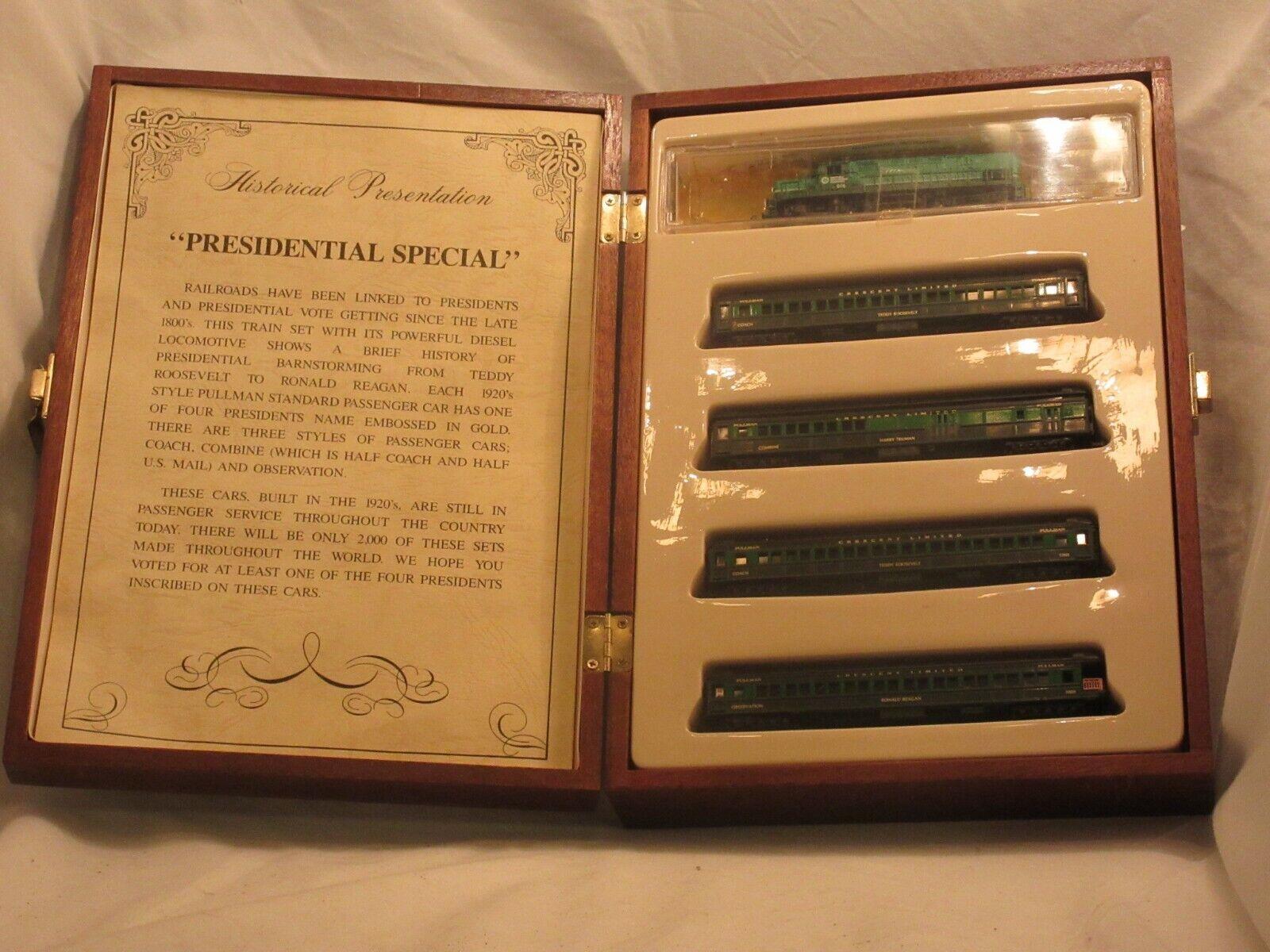 Modelo energía presidencial Escala N Conjunto de tren de edición limitada