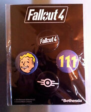FALLOUT 4 BUTTONS BADGE SET 2015 LIMITED EDITION COLLECTOR