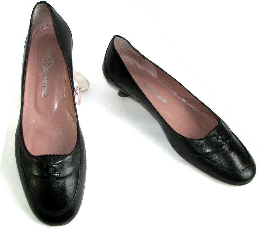 MOSQUITOS Ballet flat shoes heels 3.5 cm black leather 5.5 39