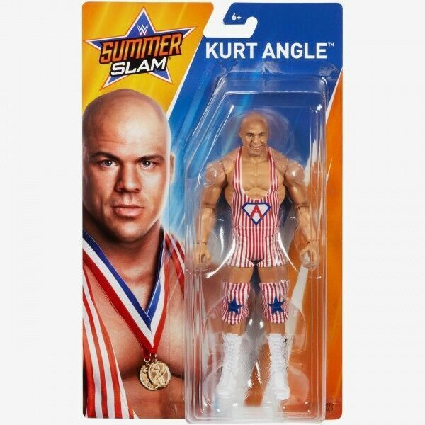 Kurt Angle WWE Mattel Basic SummerSlam Brand New Action Figure Mint Package