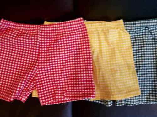 gingham shorts modesty school uniform  summer dress stretch boxer  designer
