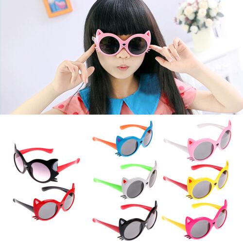Children Baby Kids Boy Girls UV Protection Cat Design Sunglasses Eyewear Goggles