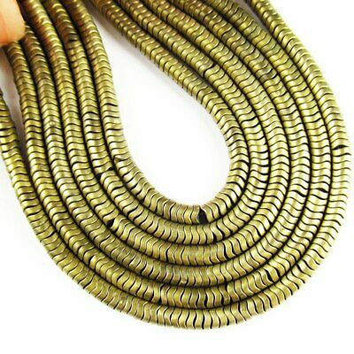 Army Green Frosted Hematite Heishi Spacer Loose Bead 15.5 inch 20g 408TS