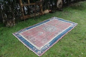 Vintage-Handwoven-Turkish-Oushak-Area-Rug-6-039-9-034-x3-039-10-034