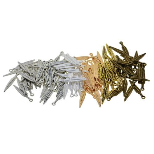 240 Stück Feder Charms Anhänger zum Basteln Charms Beads Schmuckzubehör