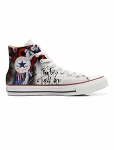 Scarpe Converse All Star Pink Floyd The Wall Custom artigianali Made in Italy