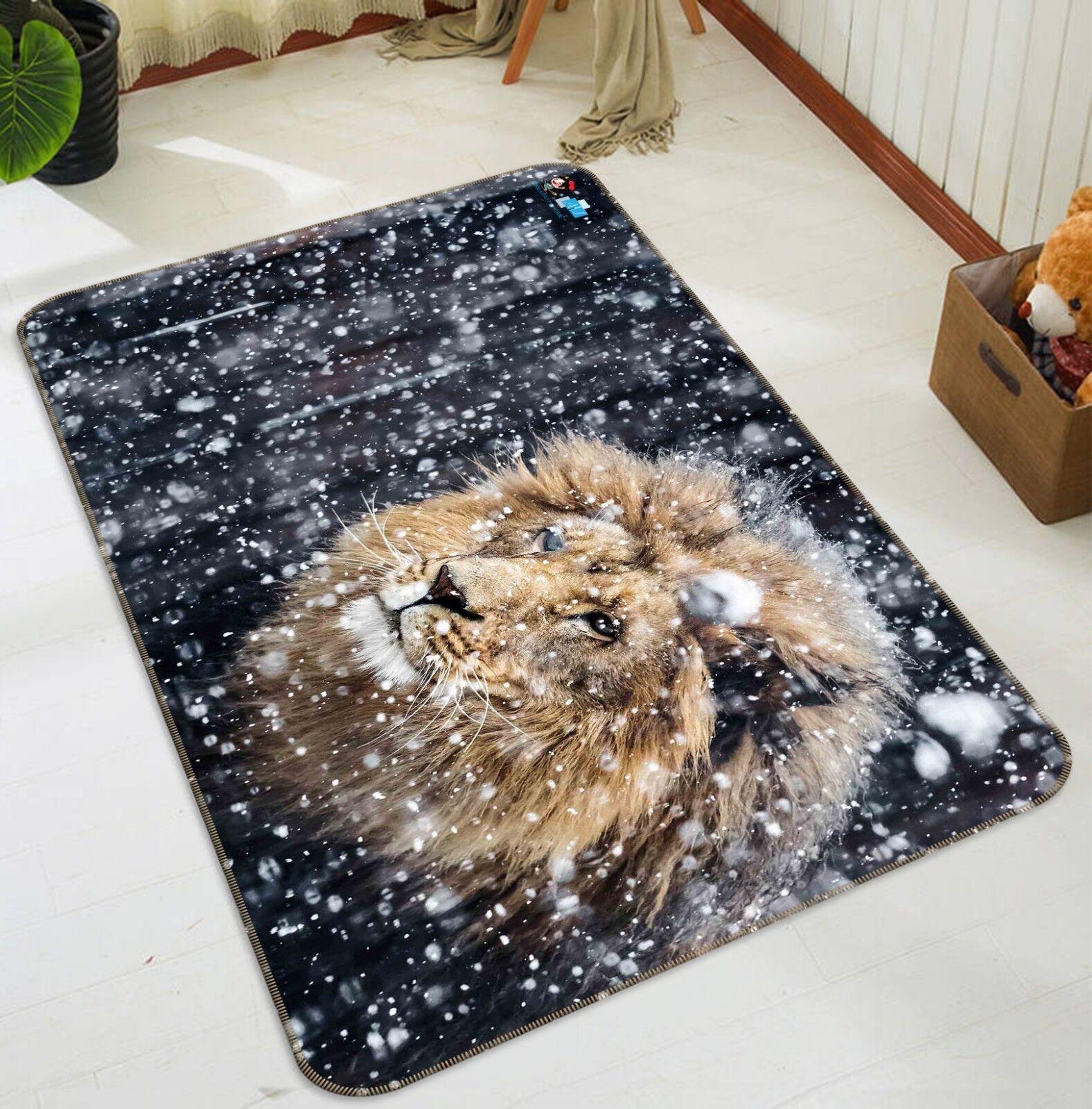 3d copo de nieve león 156 non-slip Carpet mat quality elegante Carpet de Summer